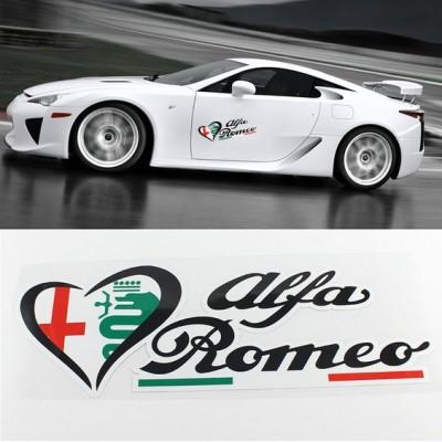 Стикер за Алфа Ромео италианско знаме