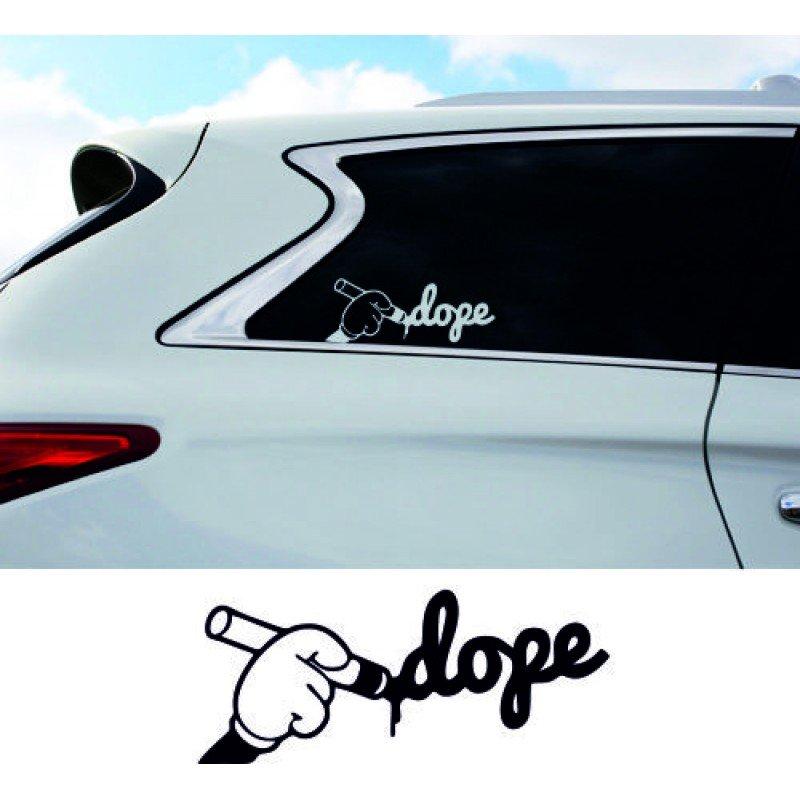 Стикер за кола Dope