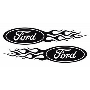 Два броя Форд в рамка от пламък за лява и дясна страна
