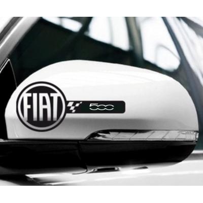 Стикери за Фиат 500 за ляво и дясно огледало