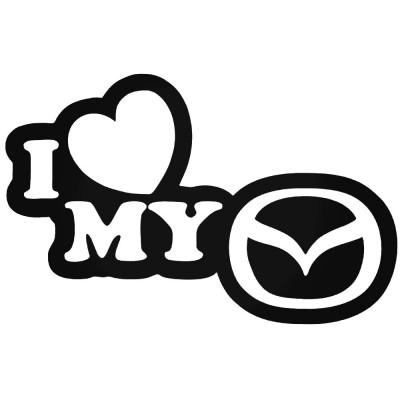 Обичам моята Мазда стикер I love my Mazda