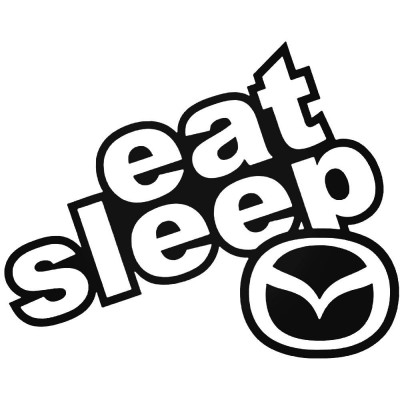 Eat sleep Mazda Лого Стикер за кола