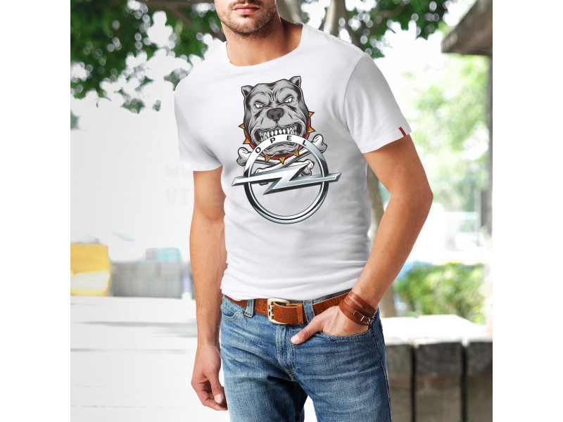 Уникална Тениска Opel Куче Опел