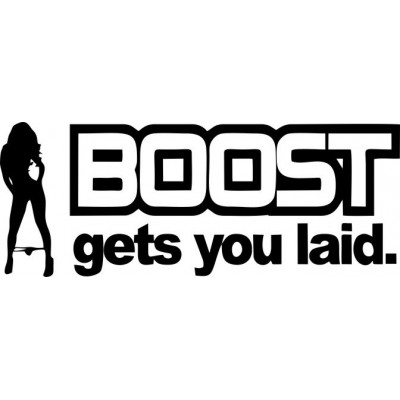 Boost gets you забавен стикер