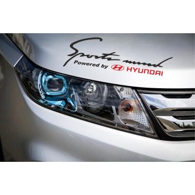 Sport mind Hyundai стикер