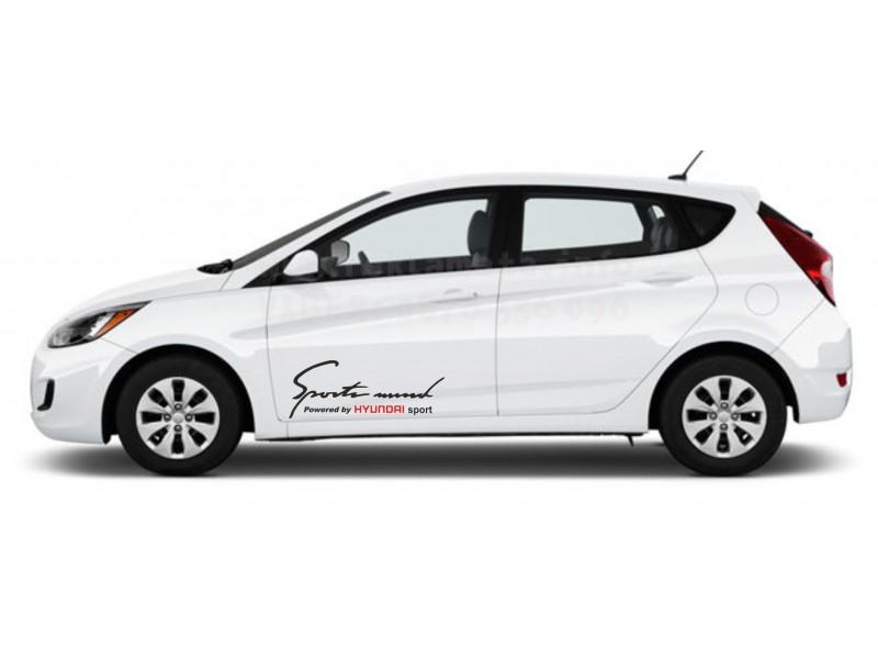 Sport mind Hyundai стикери за странични врати