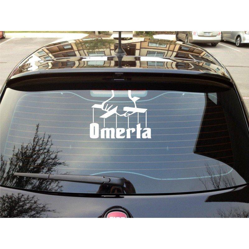 Стикер за задно стъкло Omerta