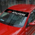 Сенник, стикер за предно или задно стъкло Hyundai