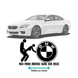 Забавен стикер за кола Бмв no free rides