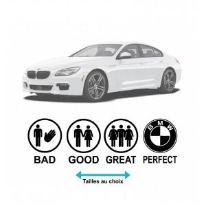 Стикер за автомобил Бмв забавен Perfect, Bad, Better