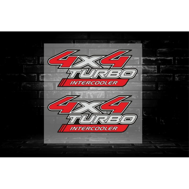 Стикери за джип 4х4 intercooler turbo два броя
