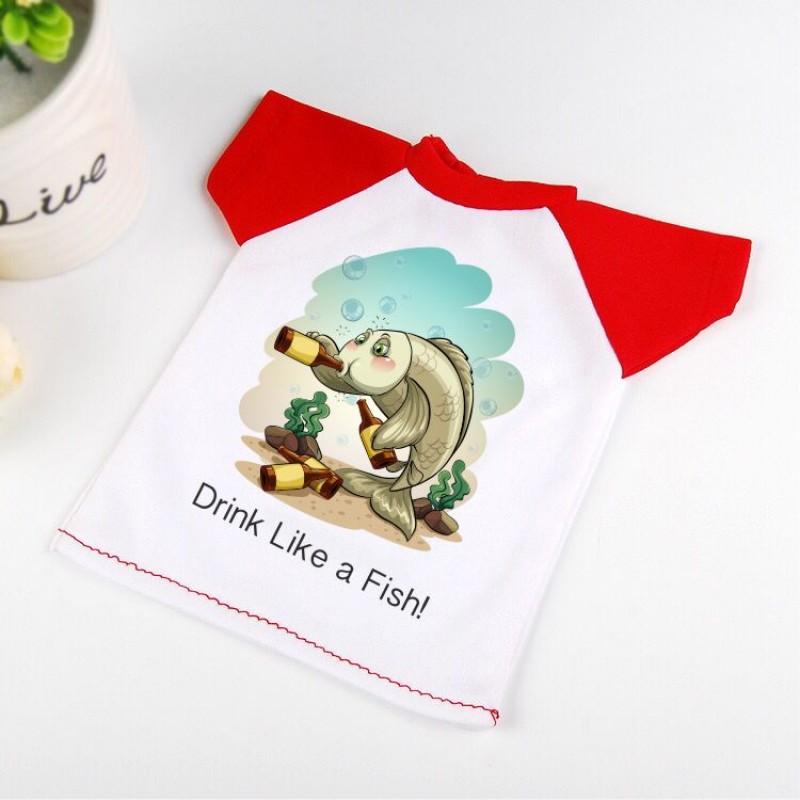 Малка тениска Drink Like A Fish