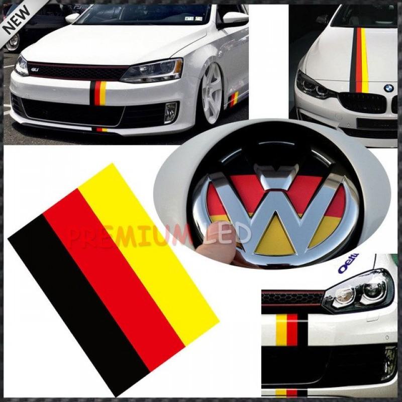 Състезателна лента с цветовете на немския флаг