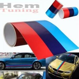 Състезателна лента с цветовете на BMW