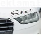 Стикери за кола Sport mind BMW sport