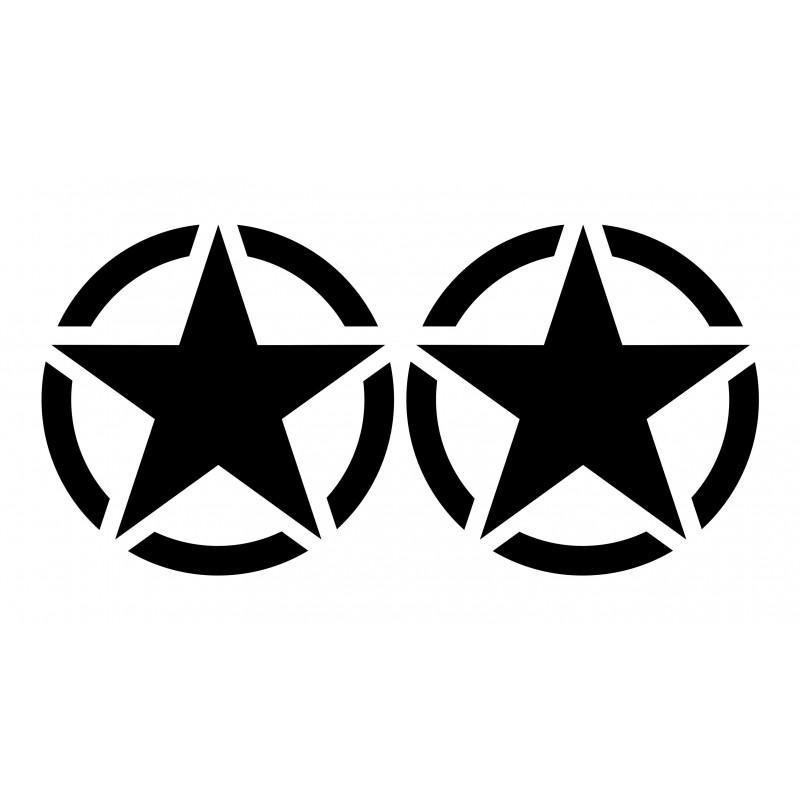 Военни звезди стикери за коли