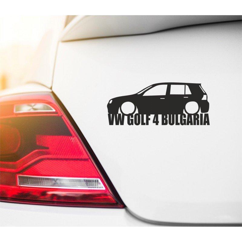 VW клуб Golf 4 стикер