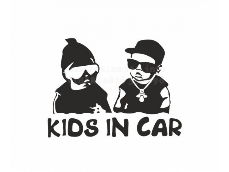 Kids in car стикер