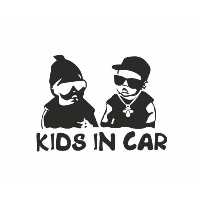 Kids in car стикер