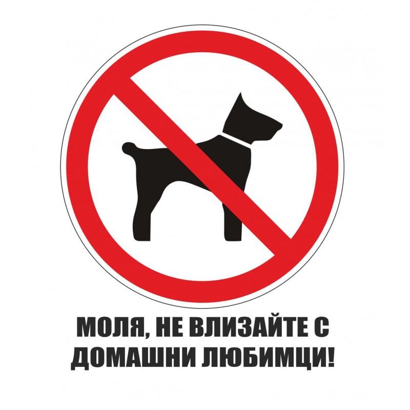 Забранено за домашни любимци