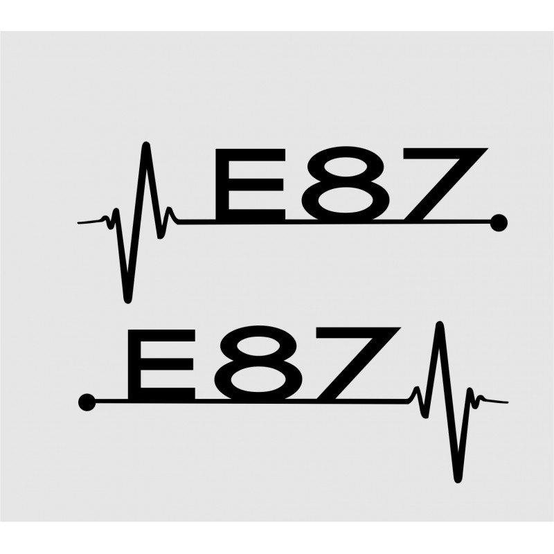 Стикер БМВ Е87 кардиограма