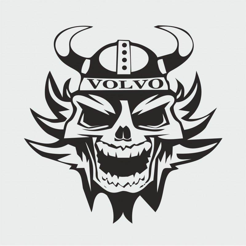 Стикер викинг череп за Волво