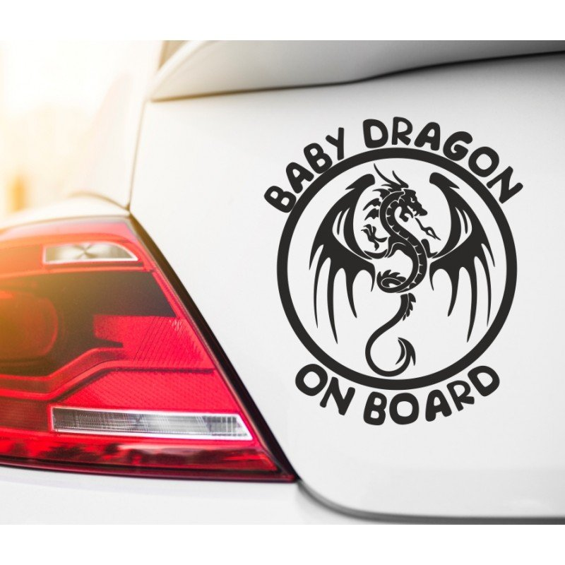 Стикер Baby Dragon on board