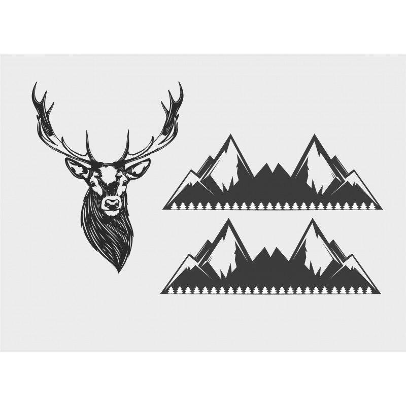 Сет от стикери Елен с два броя планини