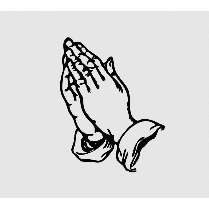 Стикер молещи се ръце