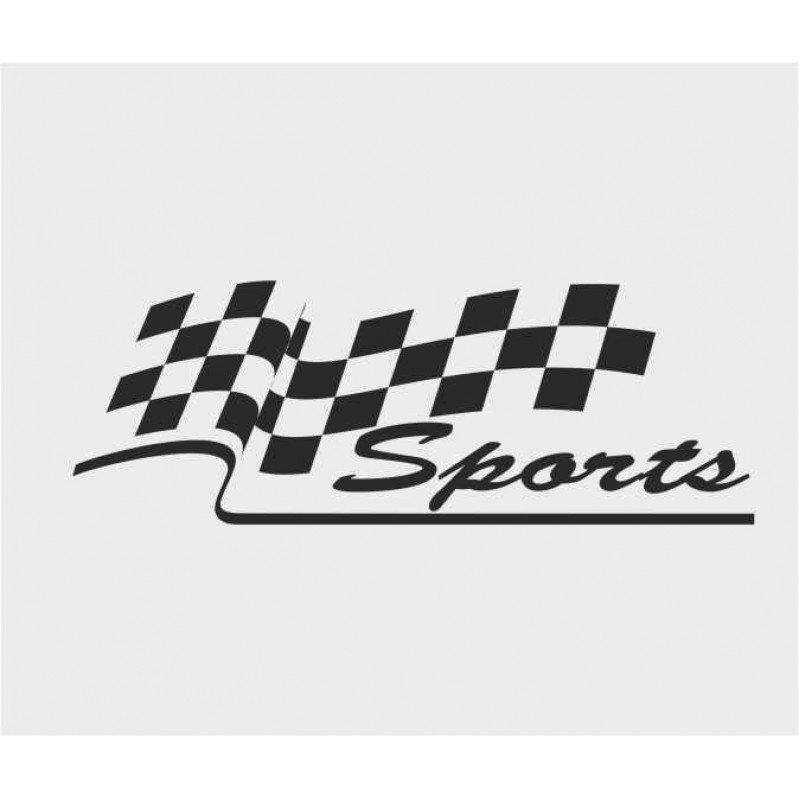 Стикер Sport  кариран флаг