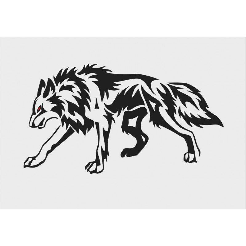 Стикер Бягащ вълк