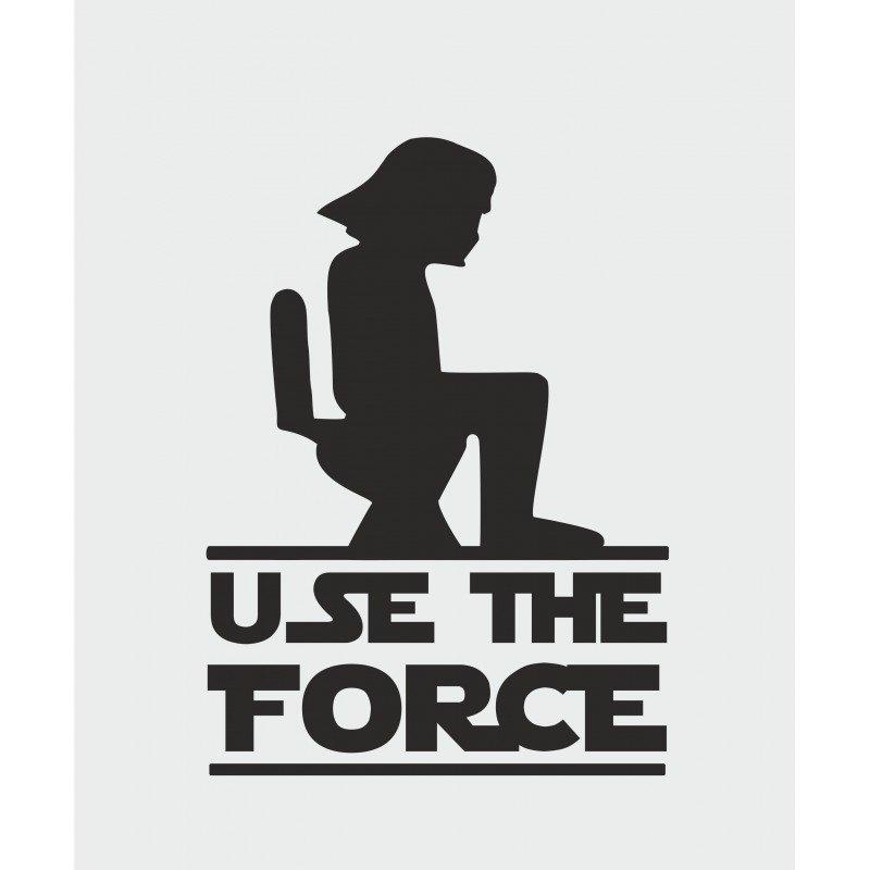 Use the force стикер за тоалетна врата