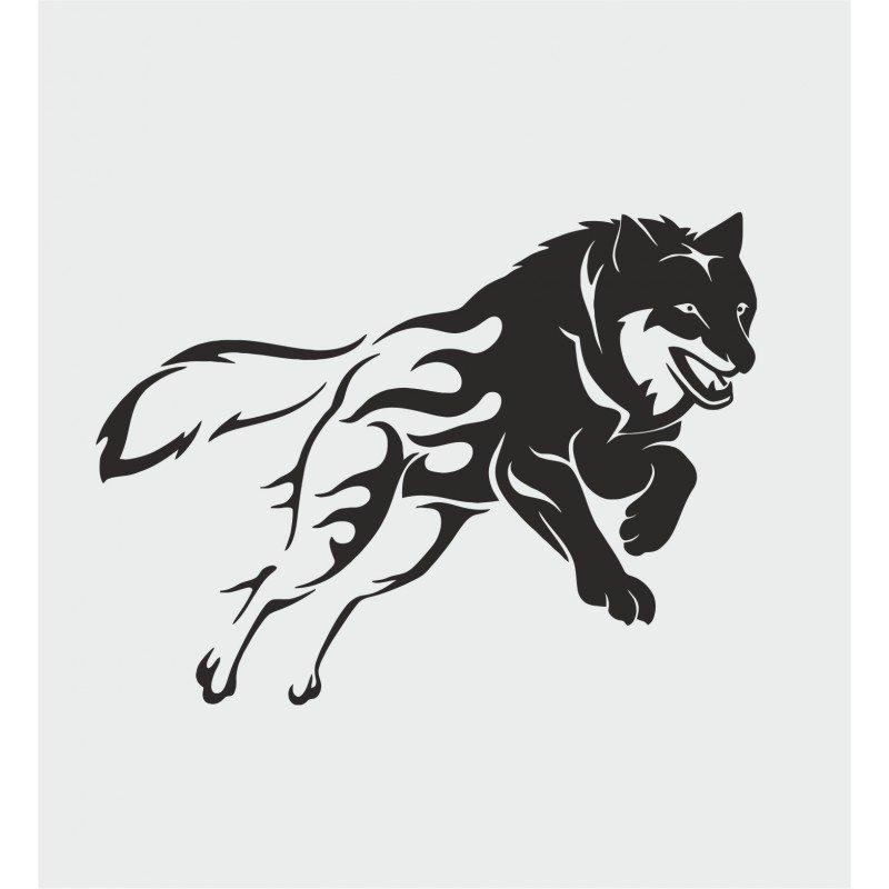 Стикер за преден капак Вълк