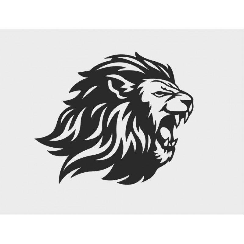 Стикер глава на лъв