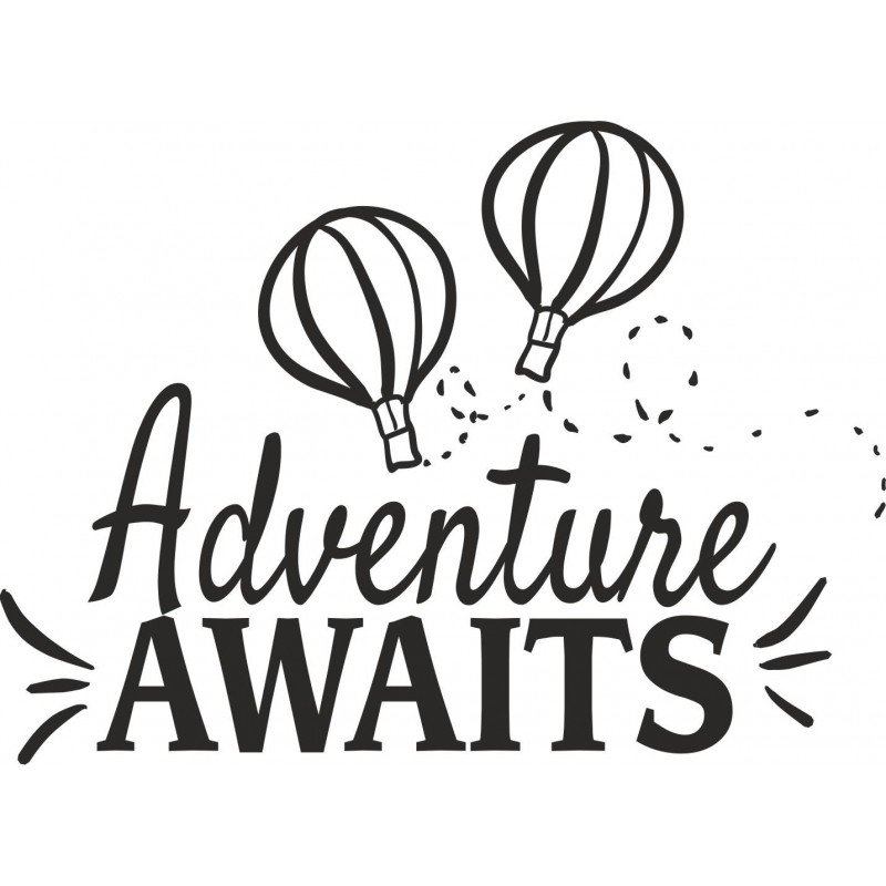 Приключенски стикер Adventure awaits