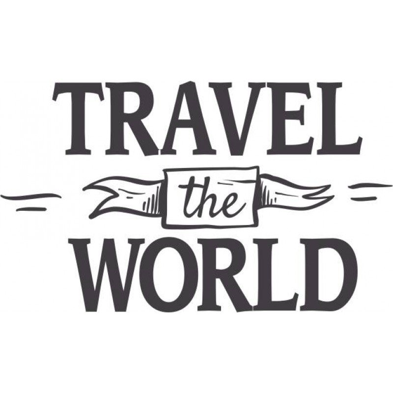 Travel the world стикер