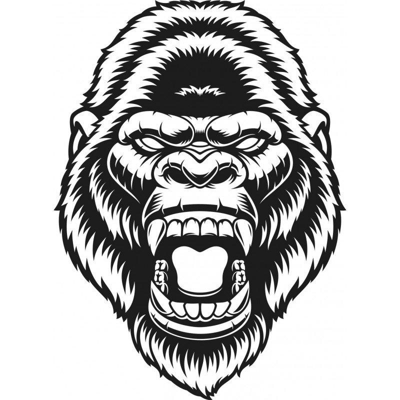Стикер Глава на Маймуна