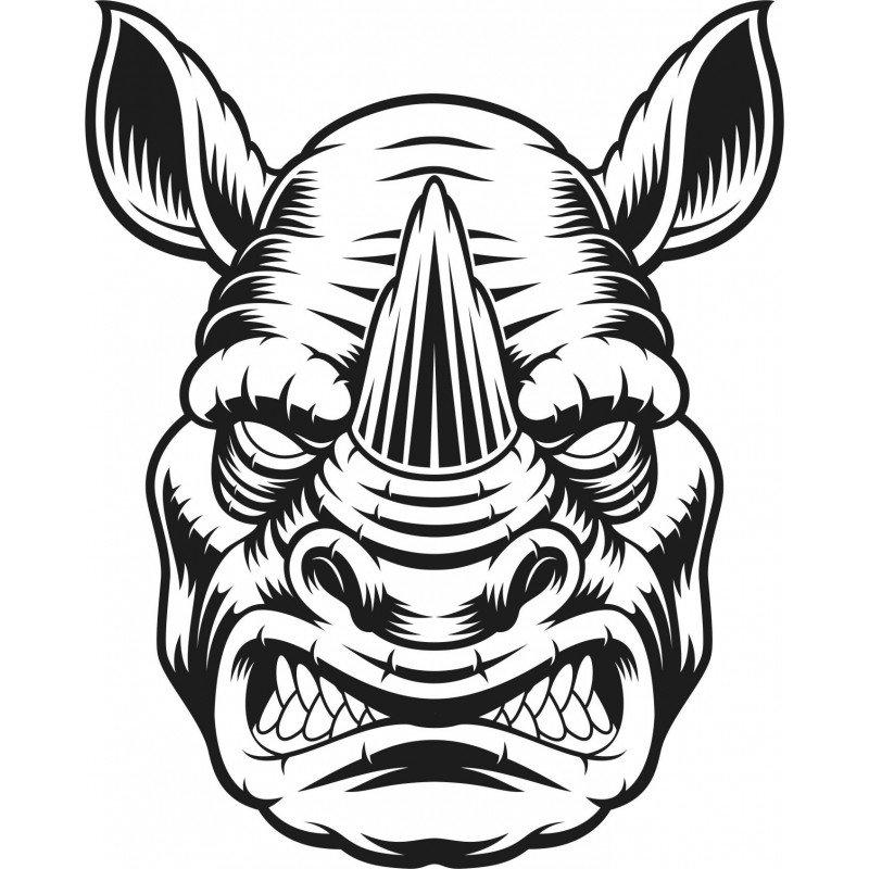 Стикер глава на носорог