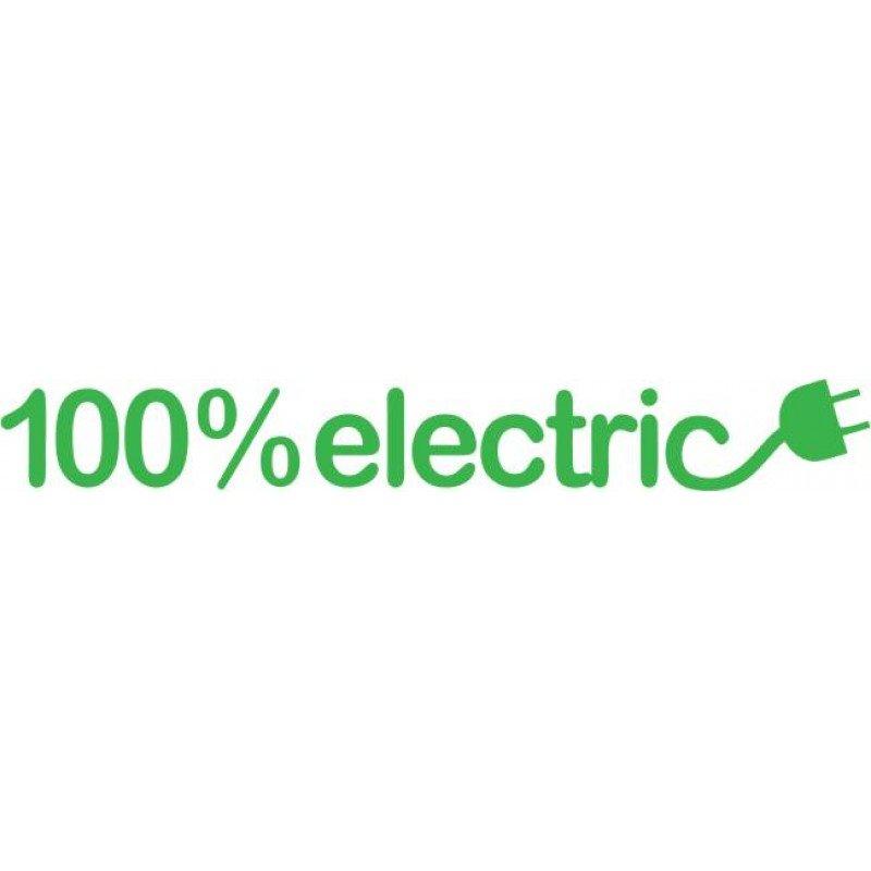 Стикер 100% електрическа кола