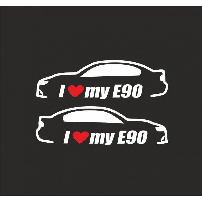 Стикери I love my E90