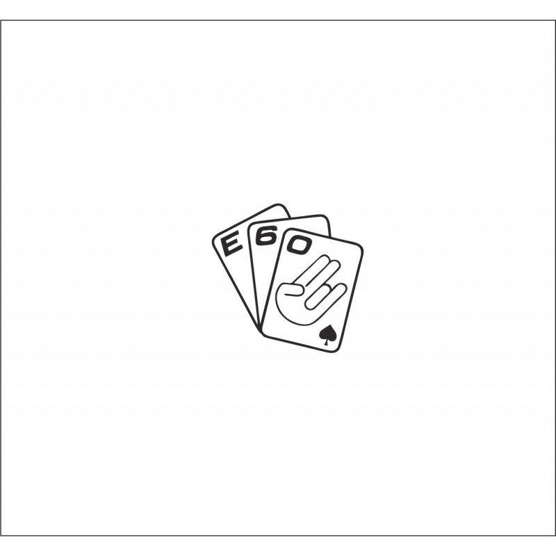 Стикер Е60 Карти