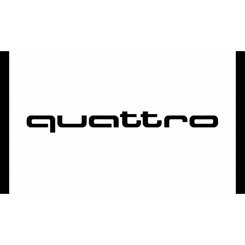 Ауди quattro стикер, лепенка лого