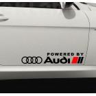 Два броя стикери Powered by AUDI, за лява и дясна страна на автомобил