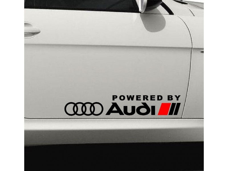 Powered by Audi  стикер,лепенка,емблема за врата