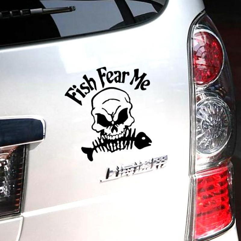 Fish fear me, Стикер, лепенка за рибари и ловци. Страшилището на рибите
