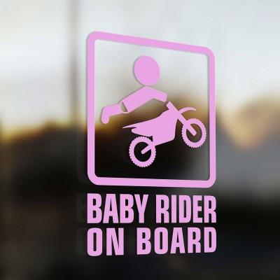 Бебе моторист в колата, розов за момиче