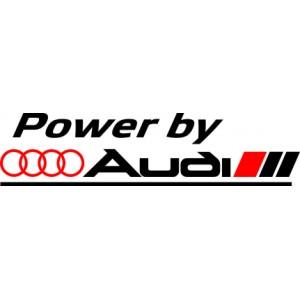 Audi стикер, лепенка за кола Power by Audi