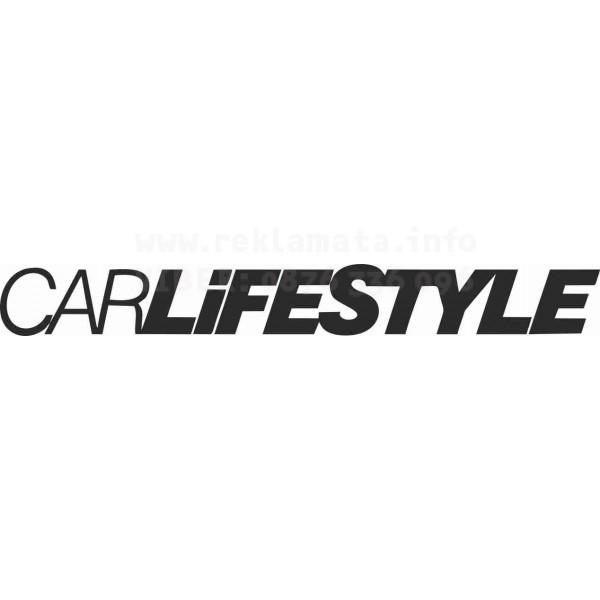 "Стикер лепенка за кола, мотор, стена ""CARLIFESTYLE"""