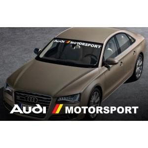 AUDI motorsport сенник, предно стъкло лепенка