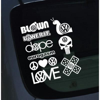 Комплект от стикери за VW Volkswagen Фолксваген Забавен